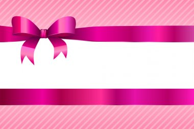 Background abstract pink magenta strips pattern with bow vector