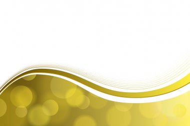 Background abstract yellow gold circle lines wave vector
