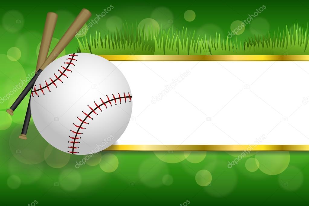 8e879ed1492d Background abstract green sport white baseball ball club gold strips frame  illustration vector– stock illustration