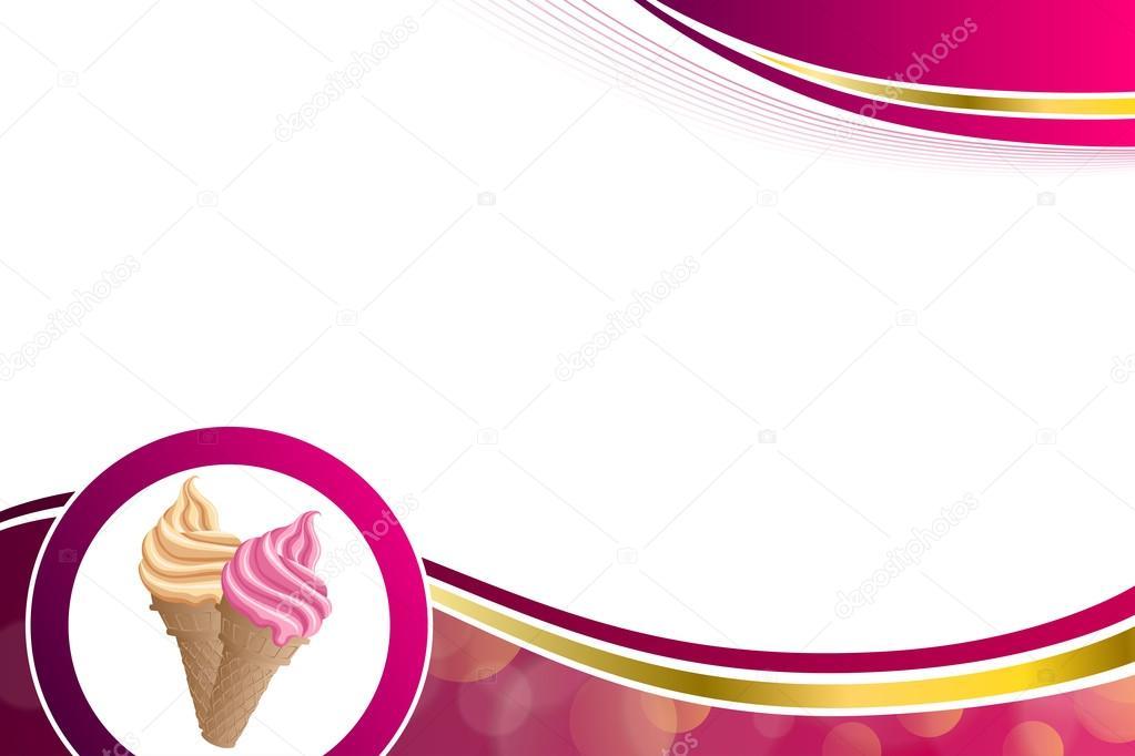 vector de ilustración de fondo abstracto rosa beige vainilla helado ...
