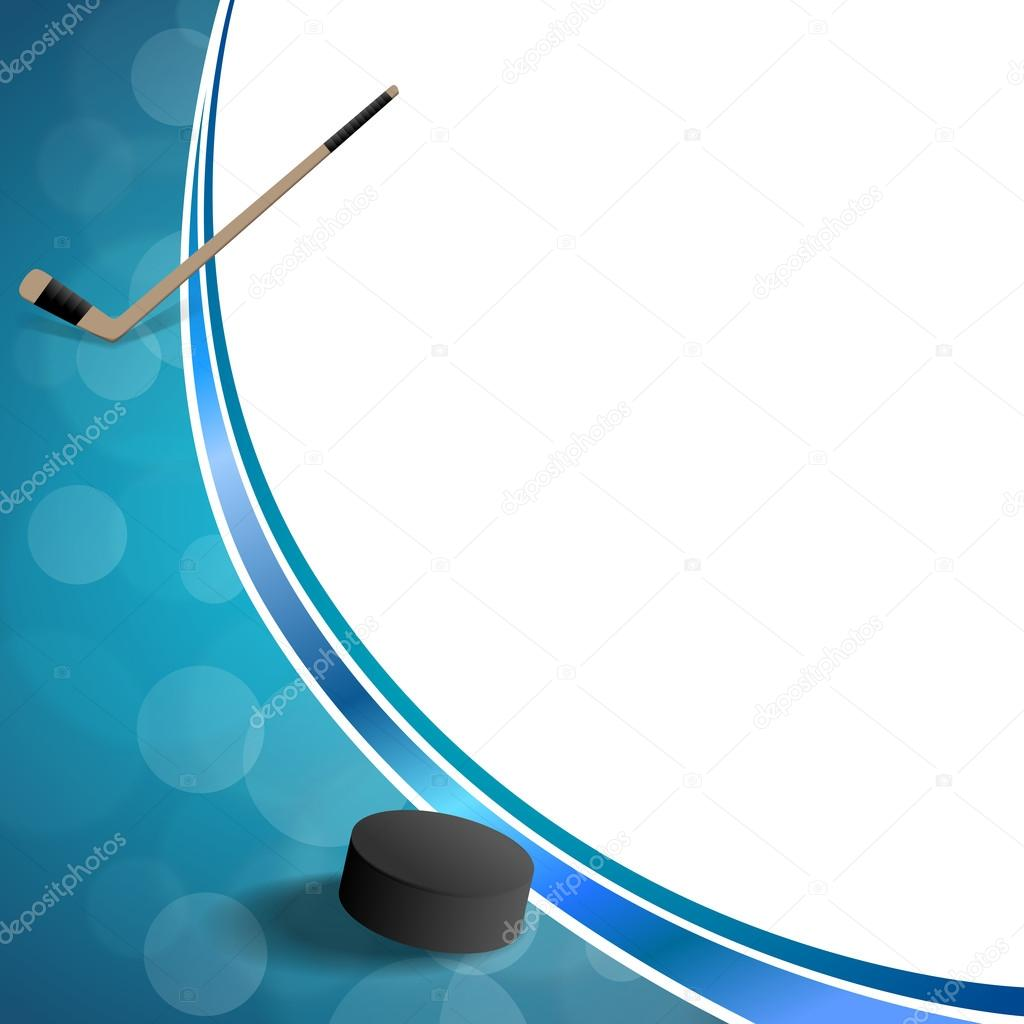Background abstract hockey blue ice puck frame illustration vector ...