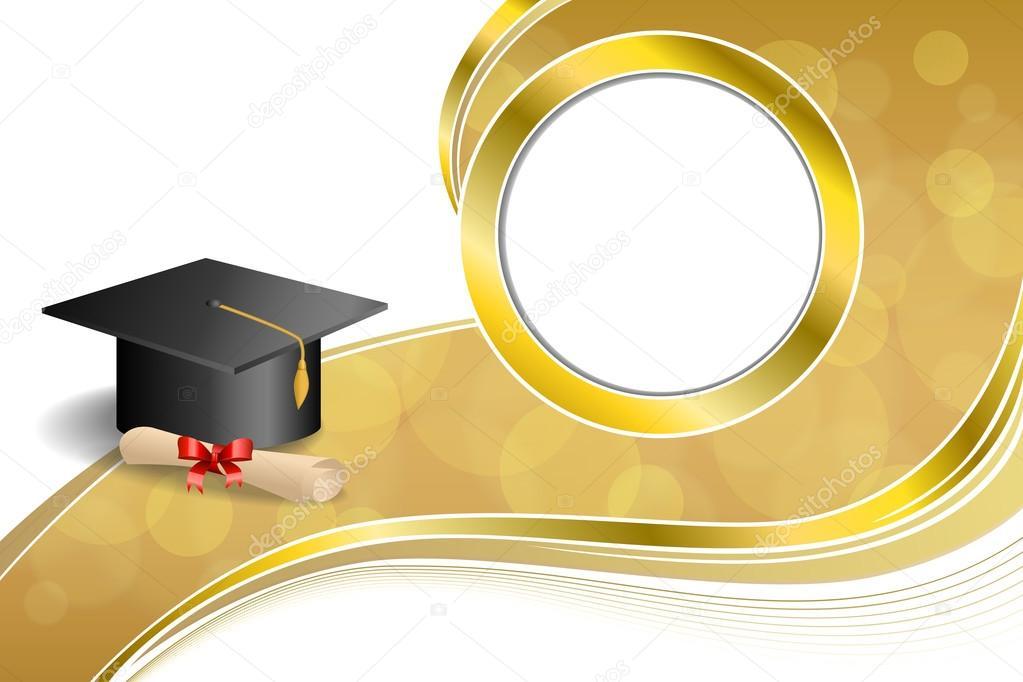 Fondo abstracto beige educación graduación cap diploma rojo arco ...