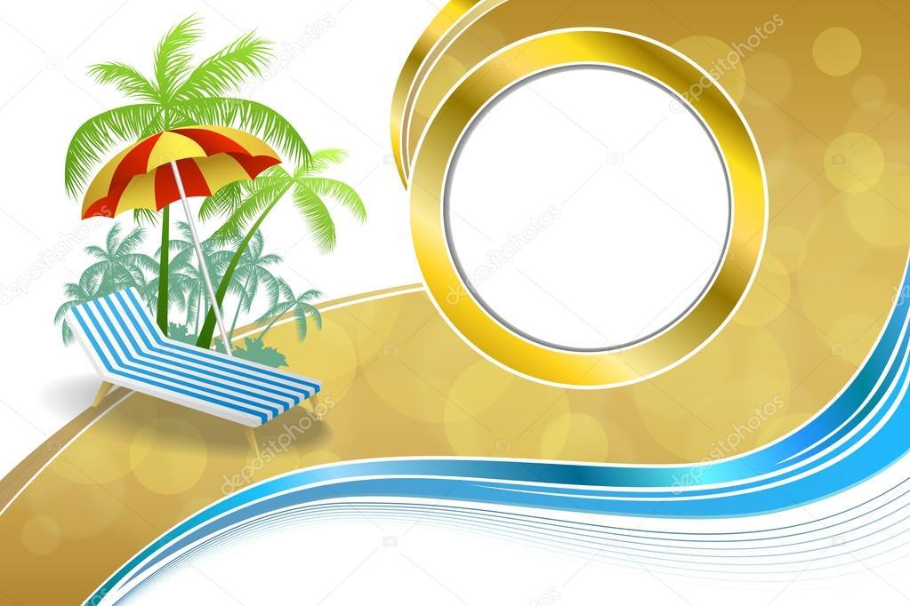 Background abstract summer beach vacation deck chair umbrella blue ...