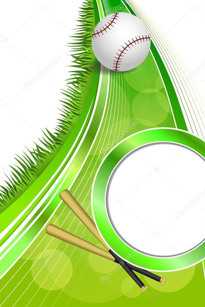 90a679f45de1 Background abstract green sport white baseball white ball frame vertical  ribbon illustration vector– stock illustration