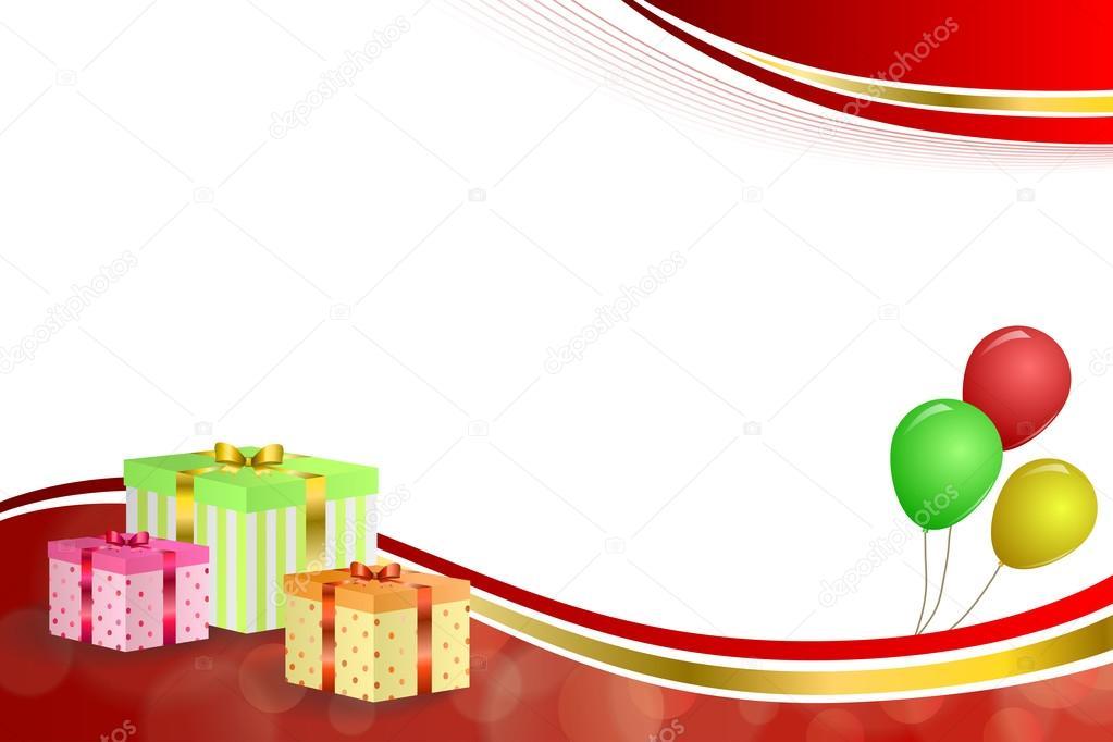 Fondo Abstracto Cumpleaños Fiesta Regalo Caja Verde Rojo