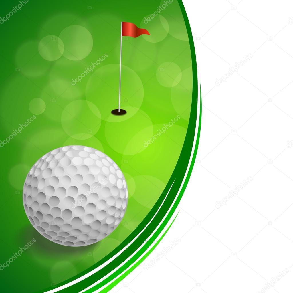 Fondo abstracto golf deporte verde bandera roja blanco vector de ...