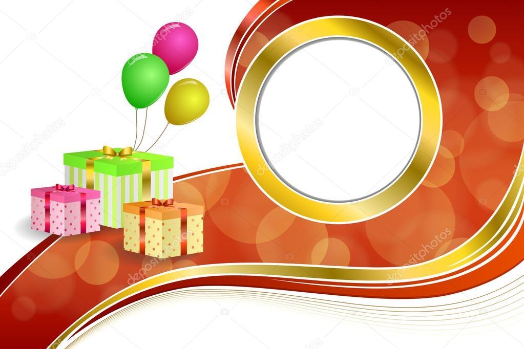 Fondo abstracto cumpleaños fiesta regalo caja verde rojo amarillo ...