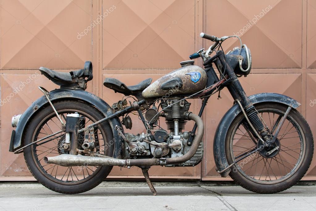 ヴィンテージ nsu osl 251 1951年オートバイからの写真撮影 ストック