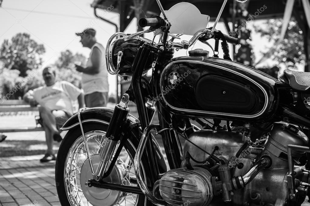 Pictures: vintage bmw motorcycle | Subotica,Serbia -July 05