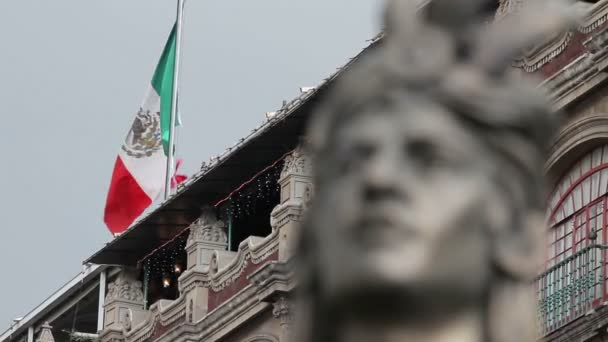 Mexico City, Mexico-August 2014: CLOSE UP-BLUR EFFECT.Moctezumas Statue.