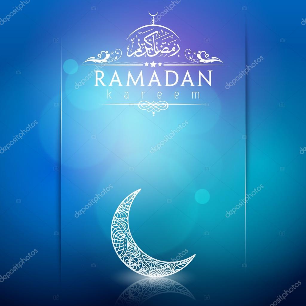 Ramadan kareem greeting card background arabic calligraphy with ramadan kareem greeting card background arabic calligraphy with floral crescent stok vektr m4hsunfo