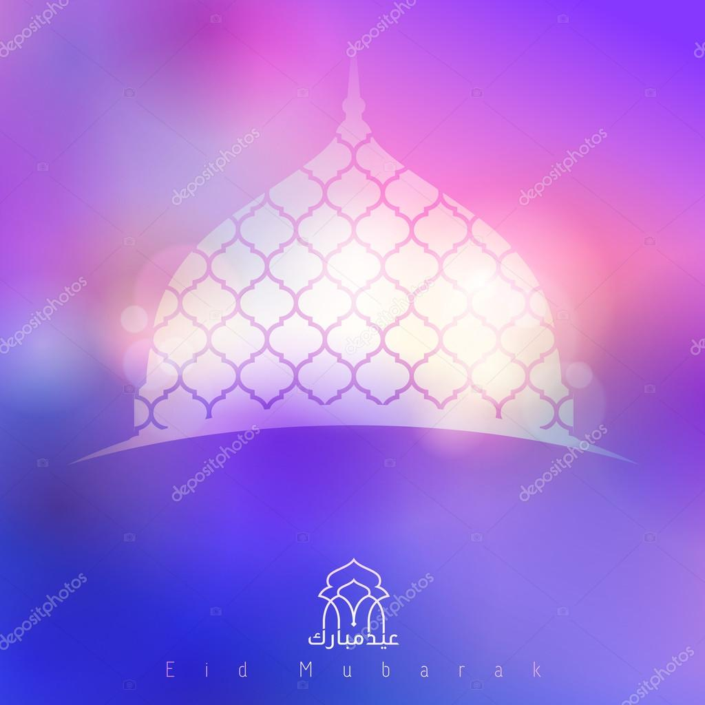islamic banner design background mosque dome eid mubarak ストック
