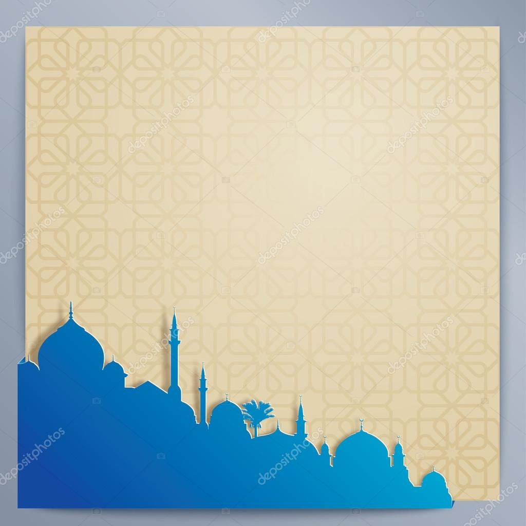 Islamic design background arabic pattern and silhouette