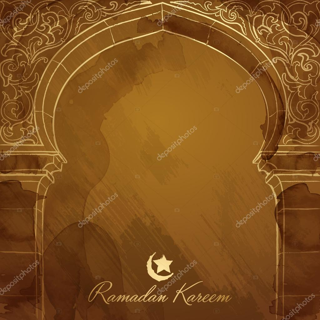Ramadan background design mosque door ink sketch u2014 Stock Vector  sc 1 st  Depositphotos & Ramadan background design mosque door ink sketch u2014 Stock Vector ...