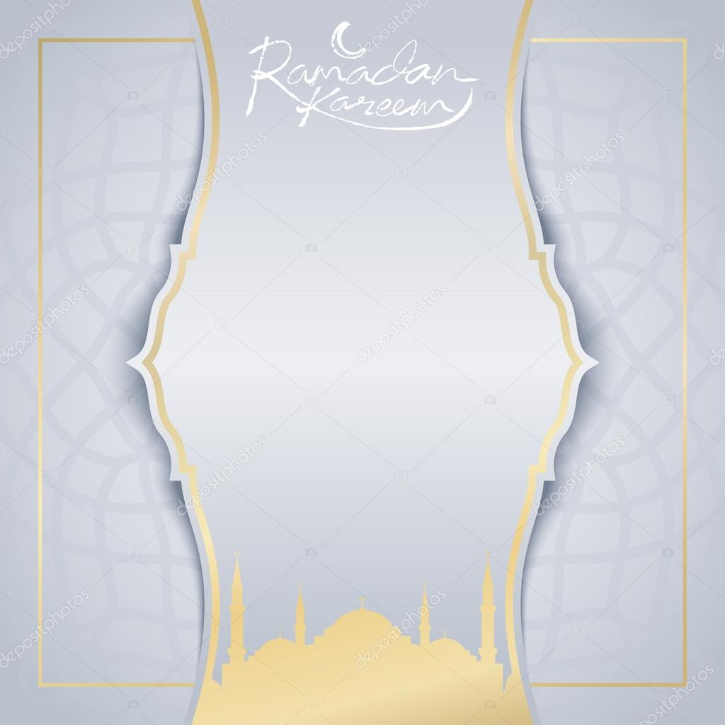 Ramadan Kareem Greeting Card Islamic Background Design Template