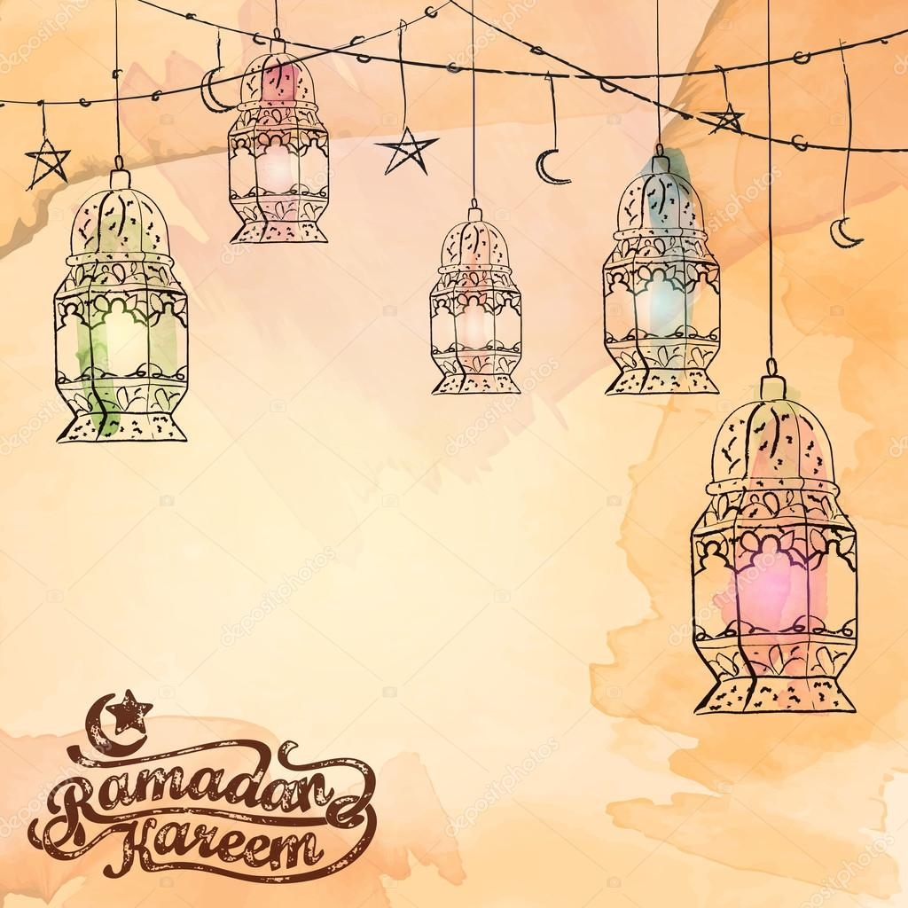 Arabic lantern islamic background design for ramadan kareem greeting arabic lantern islamic background design for ramadan kareem greeting translation of text ramadan kareem may generosity bless you during the holy month m4hsunfo