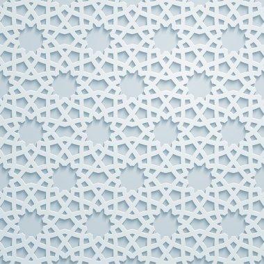 Geometric ornament arabic pattern background