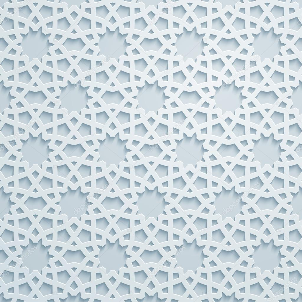 Geometric ornament arabic pattern background — Stock