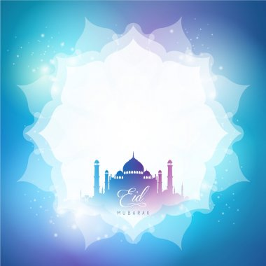 Eid Mubarak greeting banner background