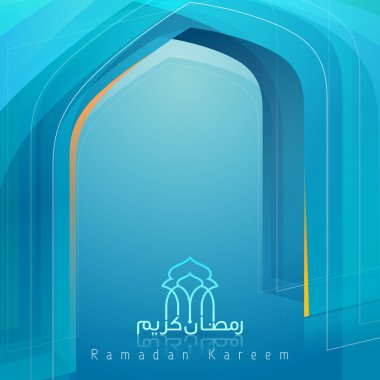 Abstract Background for islamic greeting Ramadan Kareem