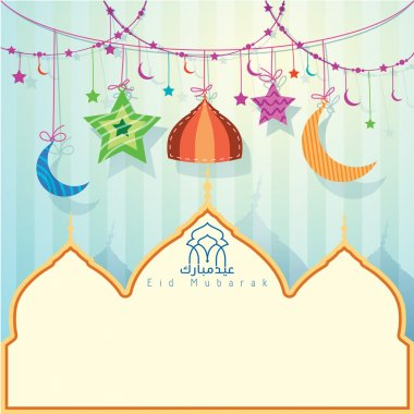 Islamic Greeting background for Eid Mubarak