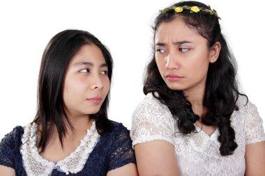 Girl friends in a fight