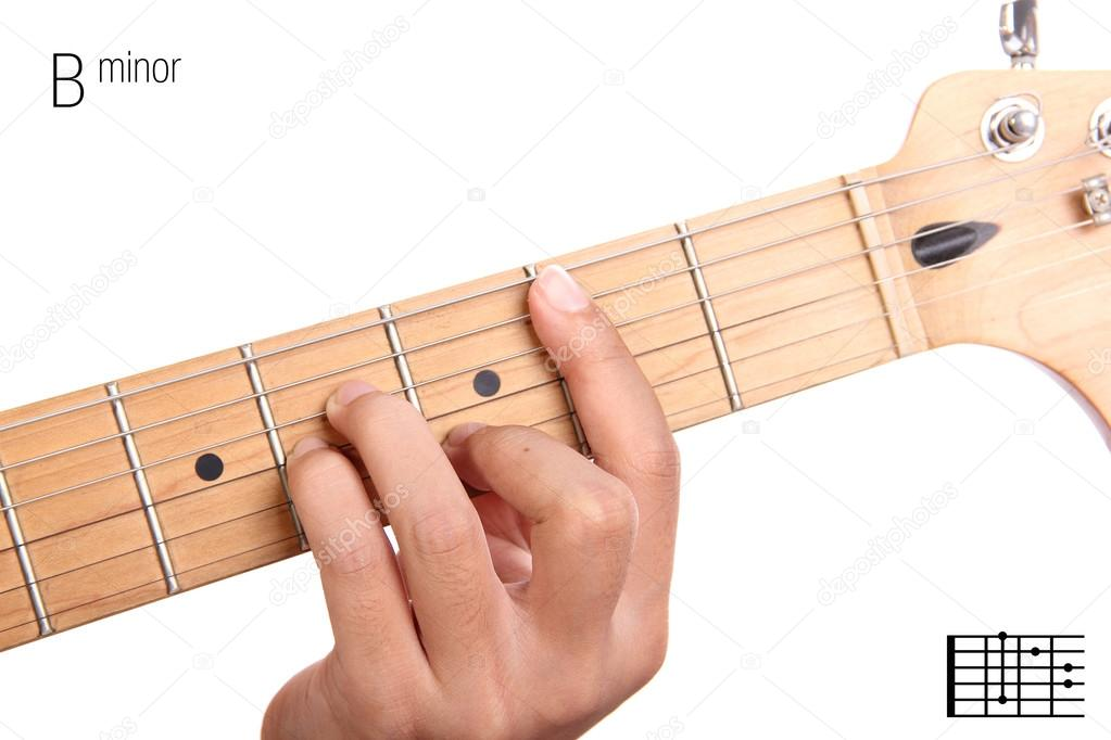 B Minor Guitar Chord Tutorial Stock Photo Pepscostudio 93209676