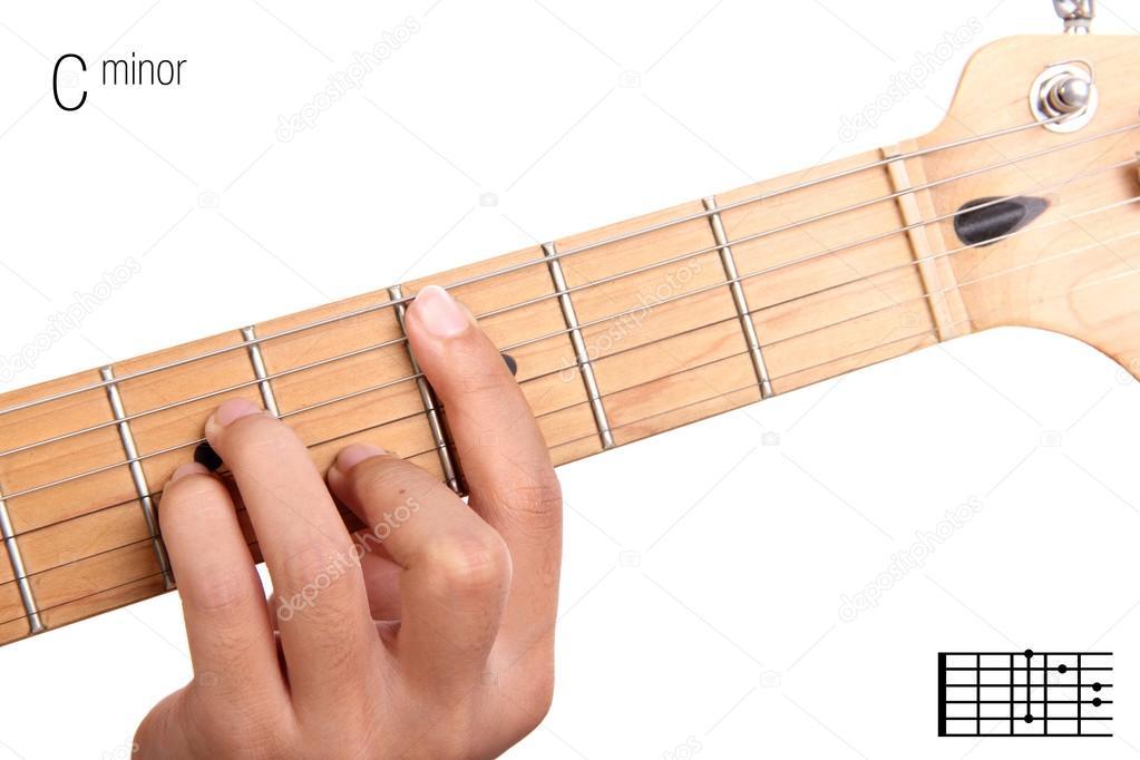 C Minor Guitar Chord Tutorial Stock Photo Pepscostudio 93210186