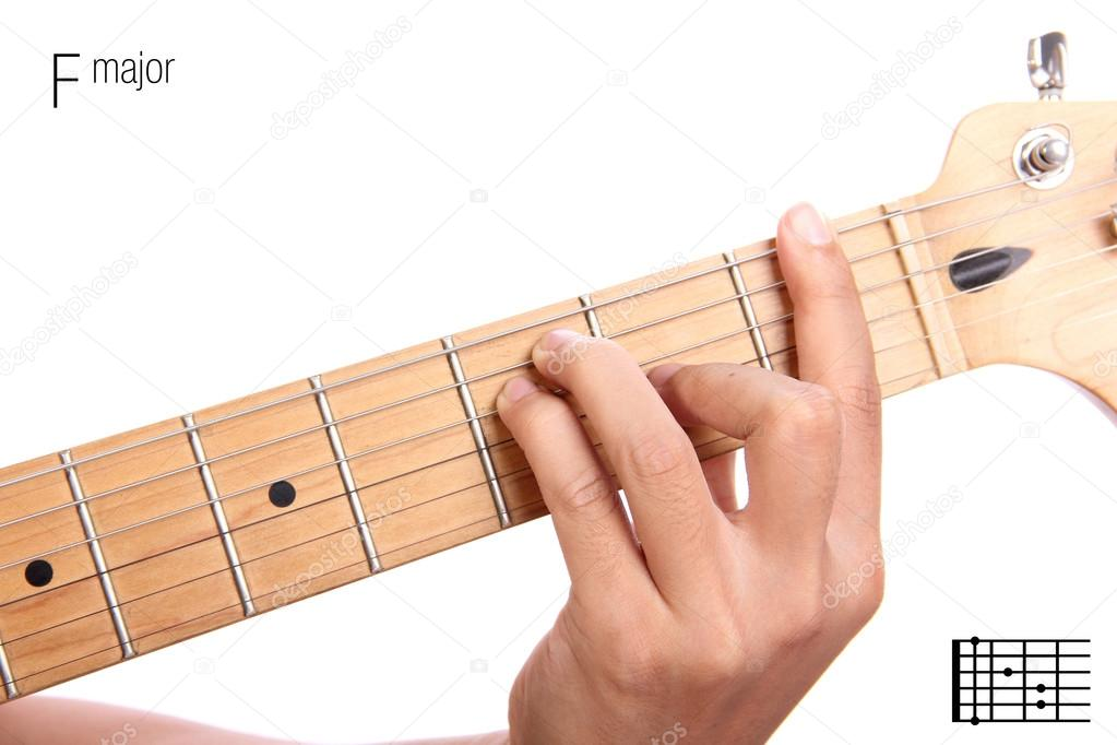 F Major Guitar Chord Tutorial Stock Photo Pepscostudio 93210738