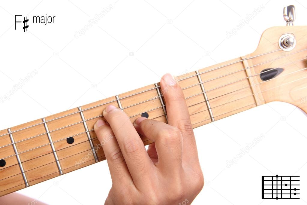 F Sharp Major Guitar Chord Tutorial Stock Photo Pepscostudio