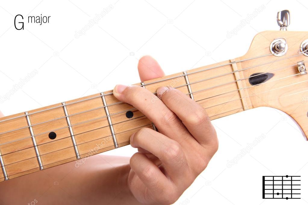 G Major Guitar Chord Tutorial Stock Photo Pepscostudio 93211108