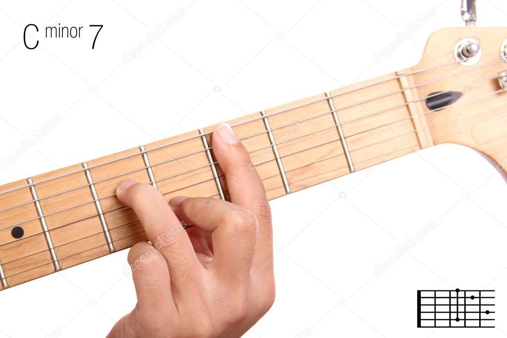 C Minor Seventh Guitar Chord Tutorial Stock Photo Pepscostudio