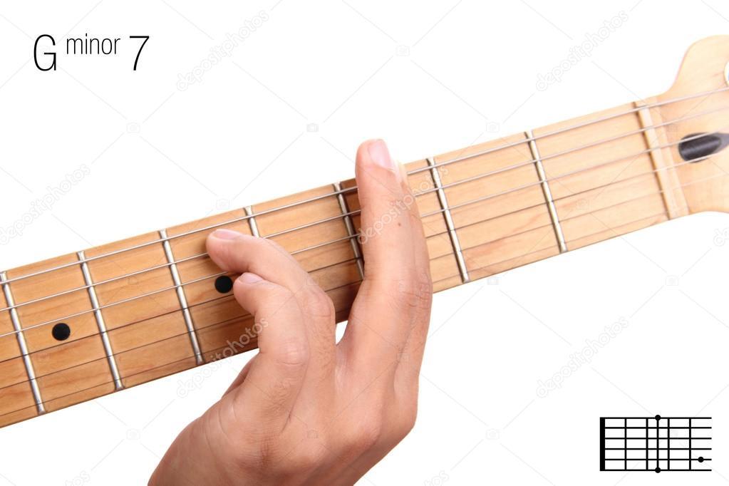 G Minor Seventh Guitar Chord Tutorial Stock Photo Pepscostudio