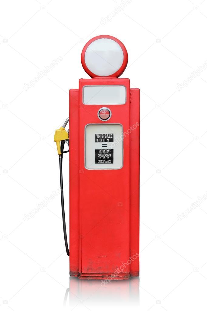 Vintage gas pump isolated