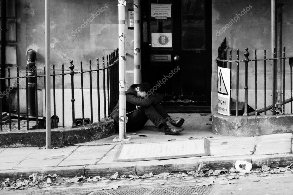 England bristol 13 sep 2015 men sleeping on the street after party in clifton bristol black and white photography photo by jaceksphotos