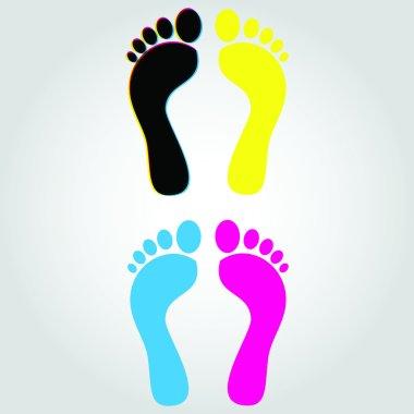 CMYK Foot Trail