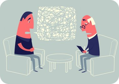 Conversation with a psychoanalyst.