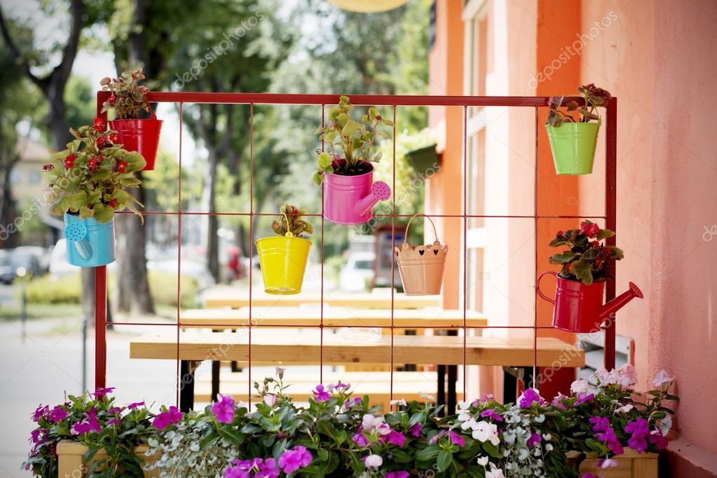 Schöne Idee Für Blumentöpfe Im Garten U2014 Stockfoto