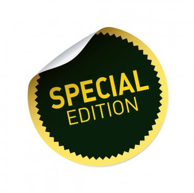 Black and yellow vector sticker and text SPECIAL EDITION
