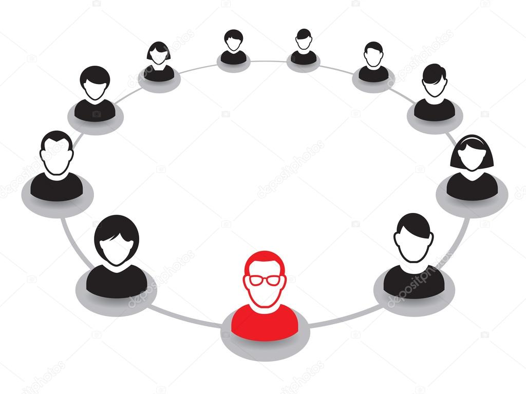 human portrait and icon vector illustration office team and leader