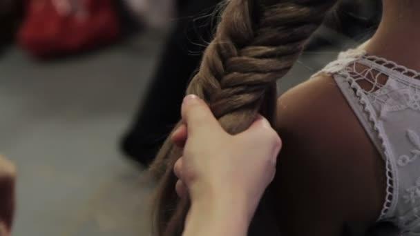 Creating hairstyles hairdresser at salon