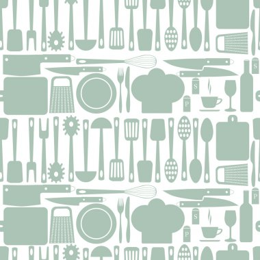 seamless kitchen vector