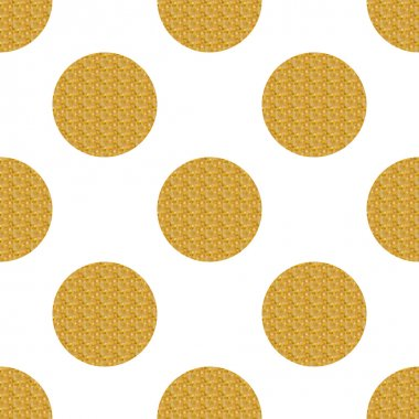 Golden seamless pattern with circles