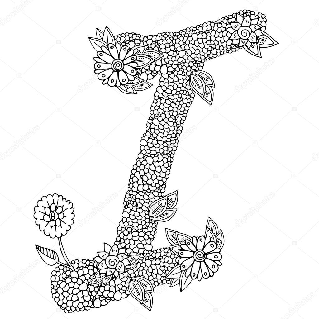 patrón en forma de capital de la letra I — Vector de stock © Lexver ...