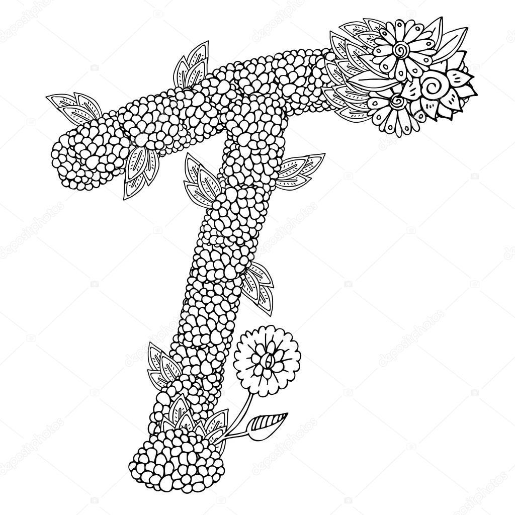 şekilli Desen Büyük Harf T Stok Vektör Lexver 102281766