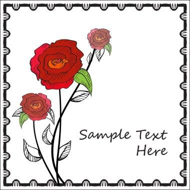 flower rose card template