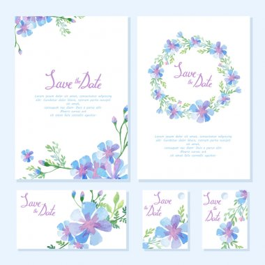 Wedding design collection. watercolor design