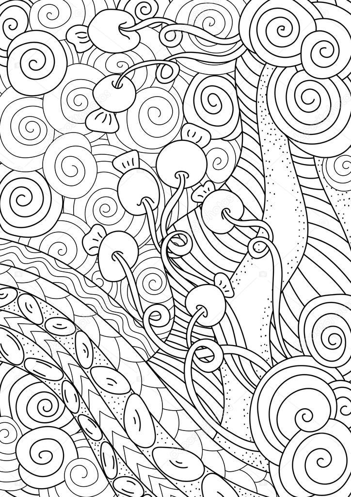 塗り絵のパターンエスニックなレトロ デザイン ストックベクター