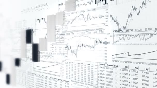 Finance bar graphs. Market Analyze. Business analytics background.Black and White