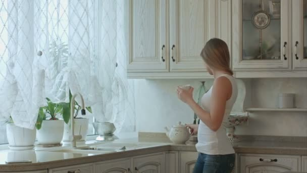 Couple enjoys an early morning coffee at home